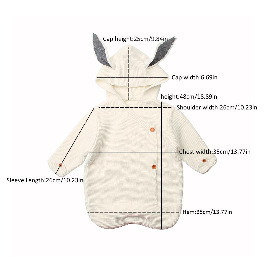 Litter Baby Unisex Cute Knit Cotton Sleeping Bag Wrap Ins Hot Sale