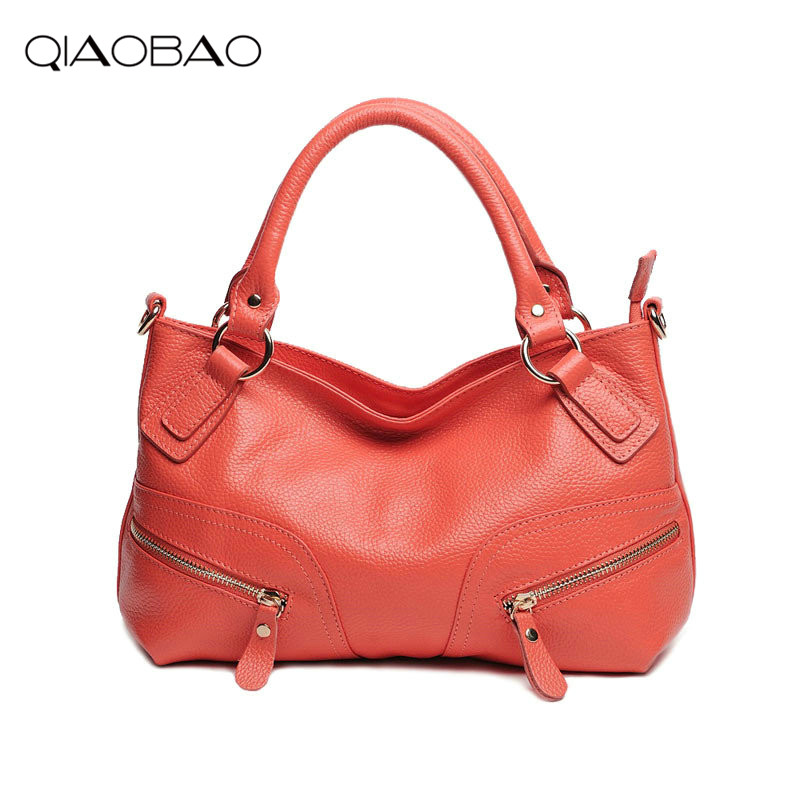 QIAOBAO 100% Genuine Leather Handbags Women's Famous Brands Fashion purse high quality women messenger bags tote bag high quality hot sale 100db wireless alarm system burglar safely security window door home magnetic sensor best promotion