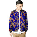 African jacket men's fashion stand collar dashiki coats african print baseball jackets tailor made design of africa clothing