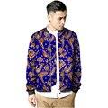 Casacos de moda masculina gola jaqueta africano dashiki africano impressão jaquetas de beisebol design feito sob medida da áfrica clothing