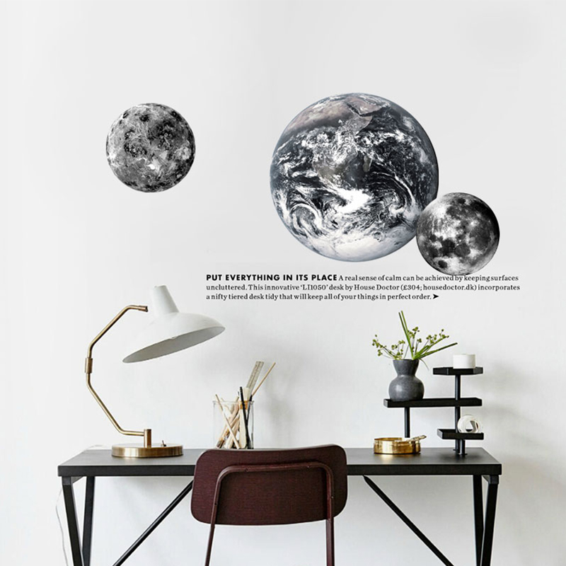 World map vinyl wall decal mosaic map of the world sofa background world map diy wall sticker earth moon mars black and modern nordic home room decoration accessories gumiabroncs Image collections