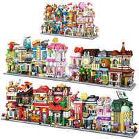 LOZ Mini briques Architecture Mini rue modèle gâteau magasin magasin bâtiment assemblage jouet ville carré bloc ensemble librairie enfants cadeau