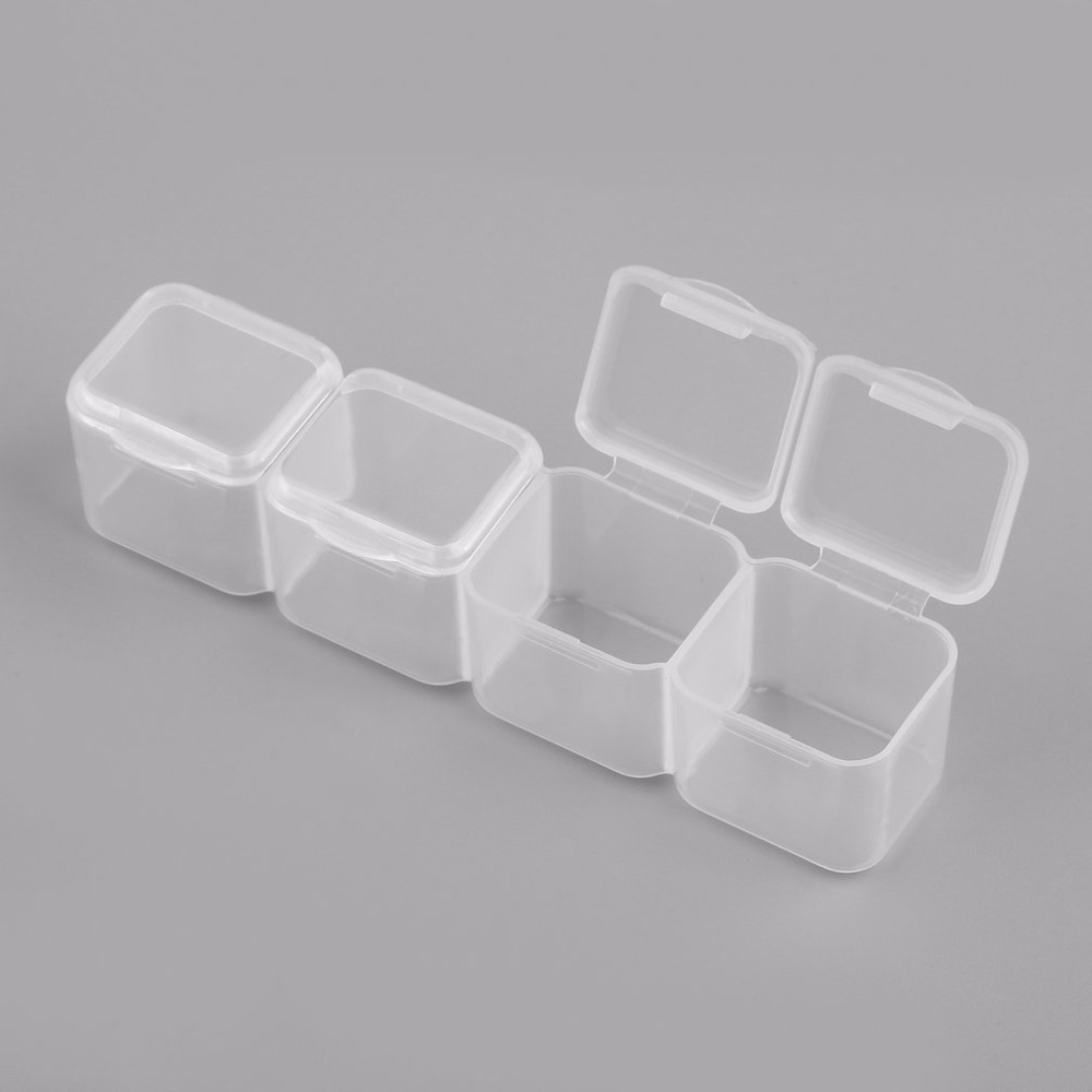 Image 4 - 28 Slots Clear Plastic Empty Storage Box for Nail Art Manicure Tools Jewelry Beads Display Storage Case Organizer Holder-in Storage Boxes & Bins from Home & Garden