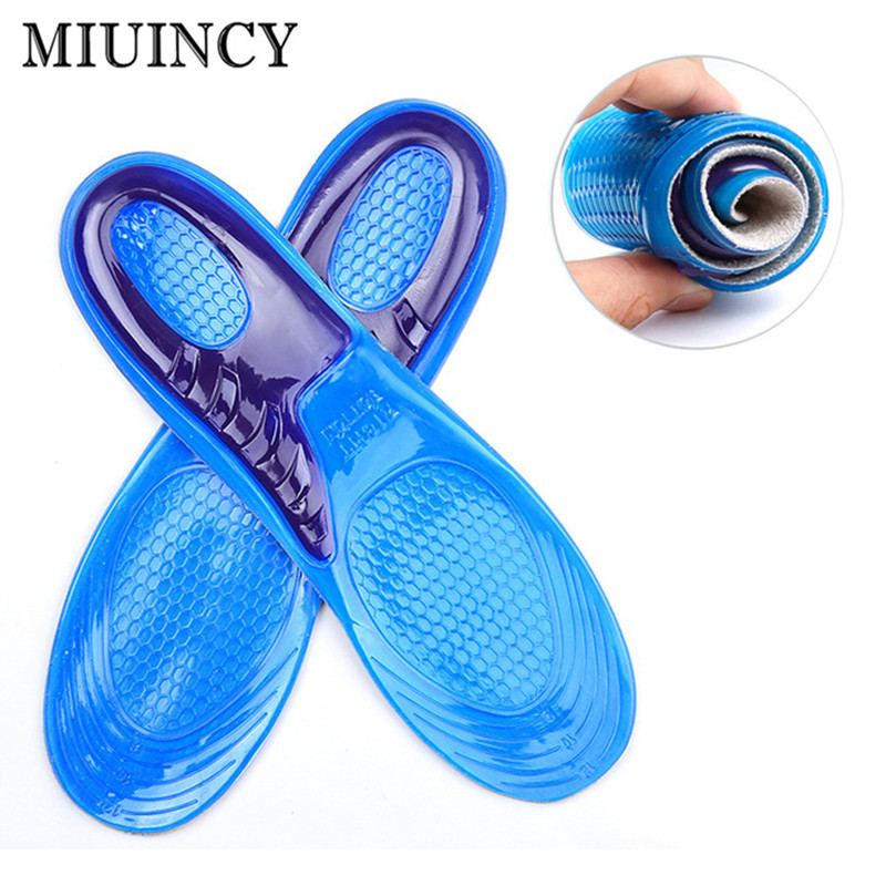 Silicone Gel Insoles Man Women Insoles orthopedic Massaging Shoe Inserts Shock Absorption Shoepad 5 pairs slica gel silicone shoe pad insoles women s high heel cushion protect comfy feet palm care pads accessories