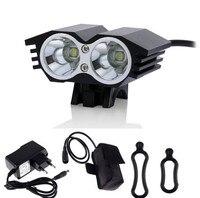 Bicycle Light Waterproof 2400 Lumen 2x CREE XML U2 LED Headlight Bike Lamp HeadLight Headlamp 6400mAh