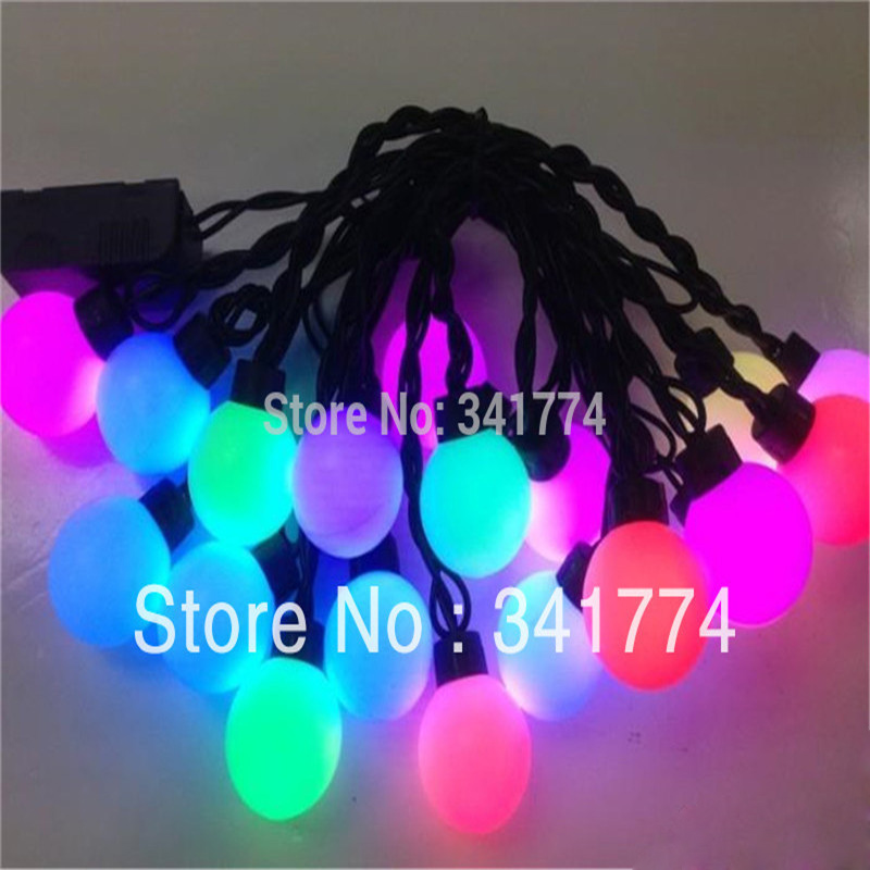 Waterproof Christmas LED String Lights Garland 16ft RGB 40leds Curtain Chandelier home garden outdoor Holiday Wedding luminaria ...