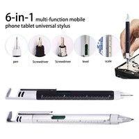 1/2/4 шт 6-в-1 многофункциональная отвертка линейка уровня пластиковый инструмент ручка для телефона инструмент уровня сенсорного экрана ручк...