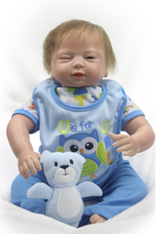 Pursue 20/50 cm One Eyes Close One Eyes Open Special Silicone Reborn Baby Dolls Fashion Doll Toys for Girls Boys Birthday Gift