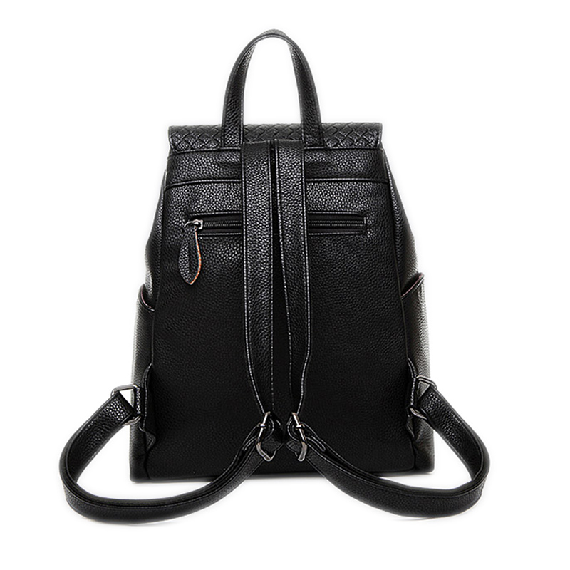 New college wind schoolbag washed leather backpack woman Korean tidal  fashion leisure travel bag weave Boutique backpacks 8932-in Backpacks from  Luggage ... 43f79c8f46606
