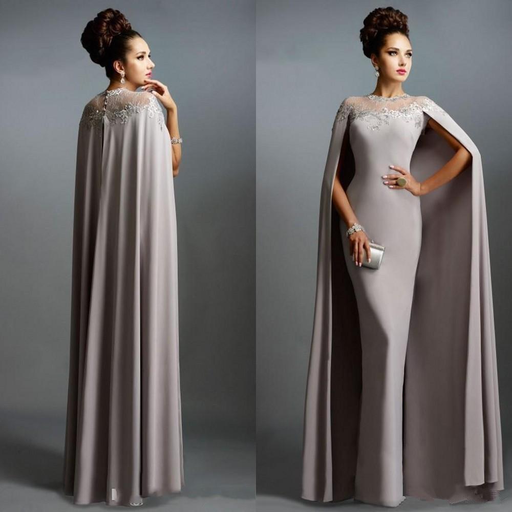 Elegant Long Cape Dress
