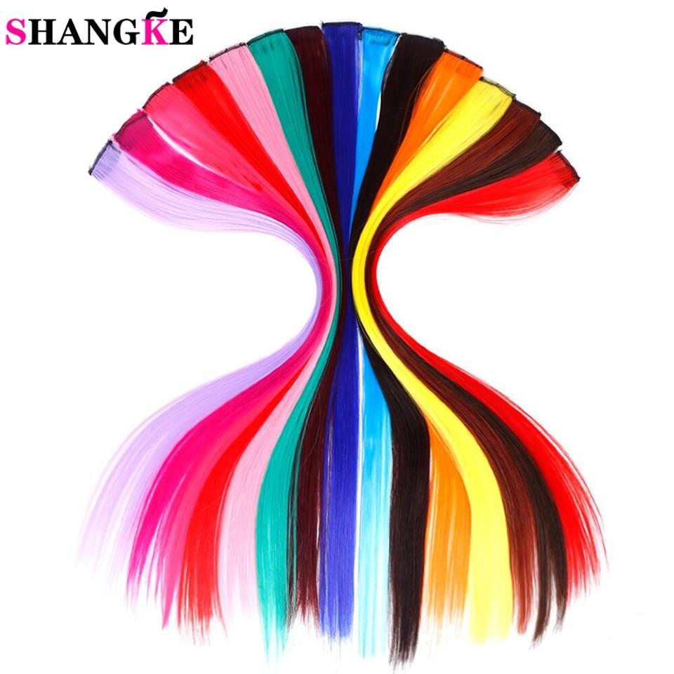 SHANGKE довга пряма жіноча - Синтетичні волосся