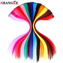SHANGKE довга пряма жіноча високотемпературна синтетична застібка у волосся, розширювальна перчатка фіолетова рожева червона синя роза барвиста