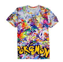 New Summer style Crewneck tshirt funny Pokemon Print 3d t shirt men/women Clothing Cartoon t shirt camisa masculina
