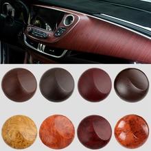 цена на 30x100cm PVC Wood Grain Textured Car Interior Stickers Waterproof Vinyl Wrap Film Decals Car Styling Furniture Decoration