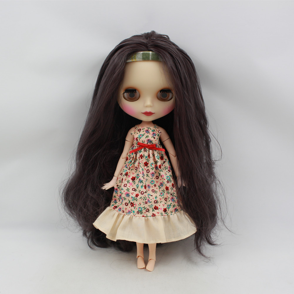 factory blyth doll 300BL9219 JOINT body deep purple hair matte face white skin 1/6 30cm factory blyth doll custom your doll choose hair face body skin only one doll design your own doll