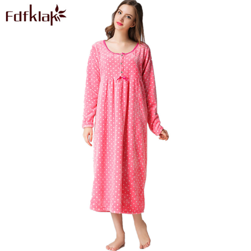 Fdfklak Nightie For Pregnant Women Winter Flannel Long Sleeve Nursing Sleepwear Maternity Nightwear Nightgown Maternity F38 полуавтоматический складной нож heiho hissatsu 2