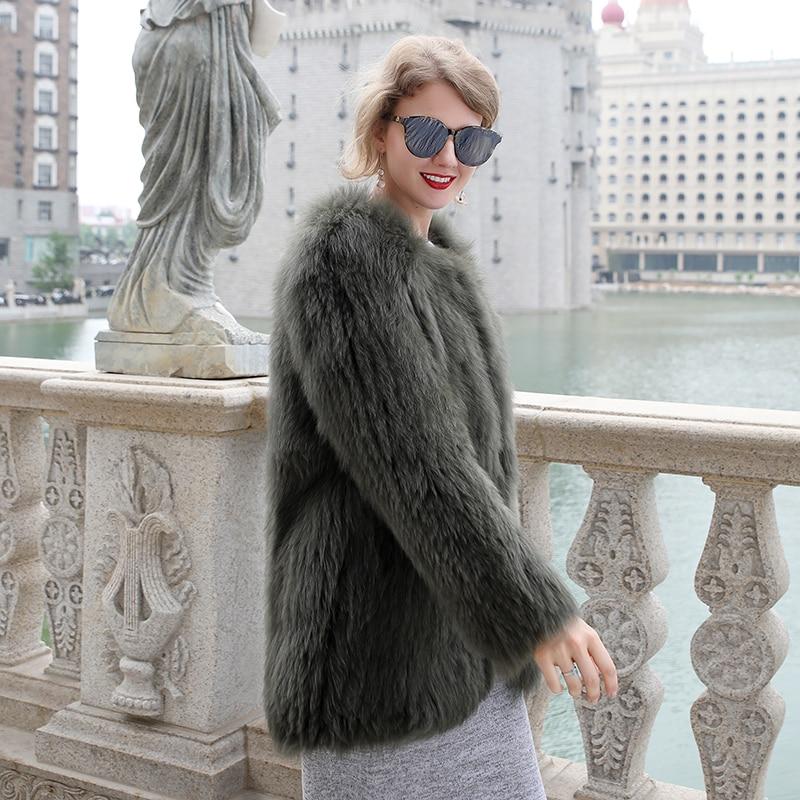 Luxury Women\'s Coat Jackets Real Fox Fur Jackets For Girls Natural Fox Fur Outerwear Female Winter Coats Warm (7)