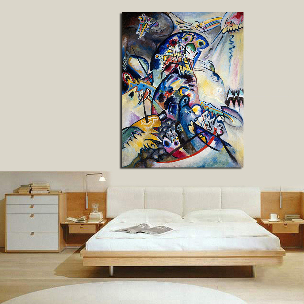 JQHYART Wassily Kandinsky Wall Pictures For Living Room Canvas Art ...