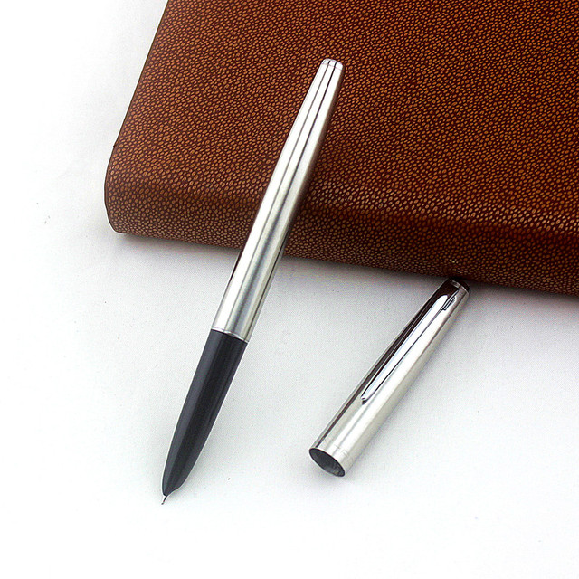JINHAO 911 Fountain Pen Ink Steel Financial Tip 0.38mm Extremely Fine Calligraphy Pen Nib Stainless Student Writing Tools Office