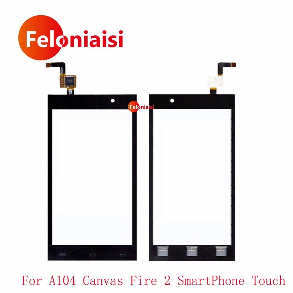 Высокое качество 4.5 для Micromax A104 Холст пожарный 2 смартфон Сенсорный экран планшета Сенсор Передняя Внешний Стекло объектив Панель