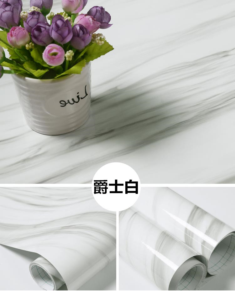 Marble pattern stickers wallpaper self - adhesive wallpaper furniture renovation stickers kitchen table kitchen furniture decoration renovation self adhesive wallpaper simple diy home building table waterproof wallpaper stickers