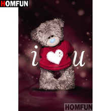 HOMFUN Full Square/Round Drill 5D DIY Diamond Painting Cartoon bear 3D Embroidery Cross Stitch 5D Home Decor Gift A15624 homfun full square round drill 5d diy diamond painting cartoon bear 3d embroidery cross stitch 5d decor gift a14427