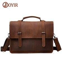 Joyir Brand Mens Office Bags For Men Genuine Leather Briefcase Handbags Shoulder Laptop Bags Business Man bag Briefcase 6148