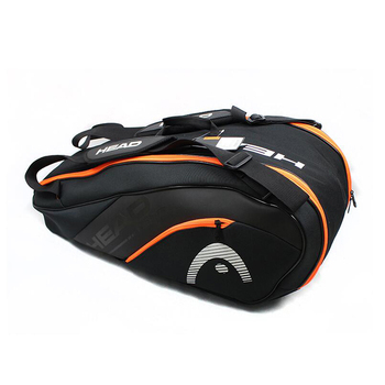 HEAD Tennis Racket Bag Backpack Large Capacity For 6-9 Pieces Rackets Multi-functional Tennis Bags Sports Training Accessories