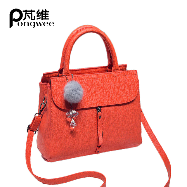 e3da3e8edd69 PONGWEE 2018New Fashion Messenger Bag Glamor Elegance Designer Handbags  High Quality Female Handbags Ladies Shoulder Girl