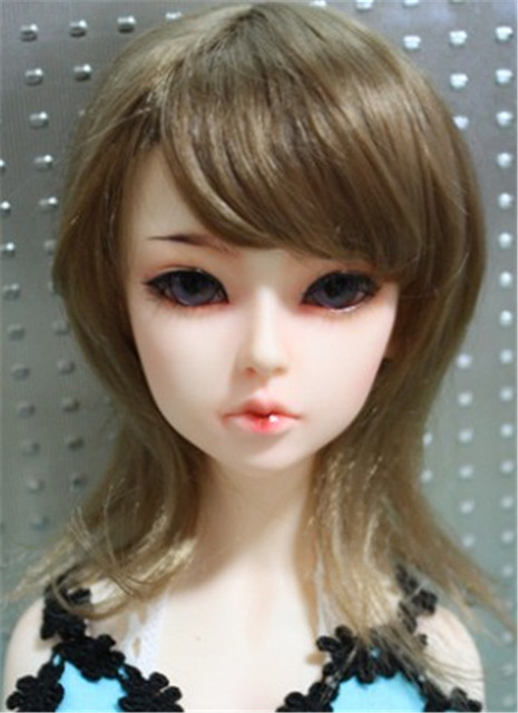 Yosd Doll wig  1/6 synthetic mohair  wigs  Unisex  nature BJD hair Porcelain doll hair  Vinyl doll wig