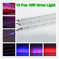Cheapest 10pcs 0.5M 10W 36SMD 5050 Red+Blue Grow LED Light Garden Supply Hard Strip Hydroponics for Plants Vegetable Lamp