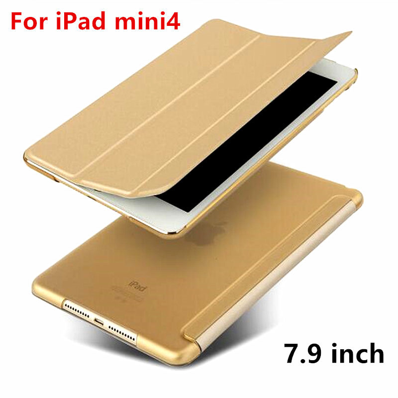Case For Apple iPad mini 4 Protective Smart cover Protector Leather PU Tablet For iPad mini4 Sleeve cases Covers 7.9 inch tpu silicone case for ipad mini 4 cartoon all round protective cover 3d cute soft rubber tablet coque for ipad mini 4 cover
