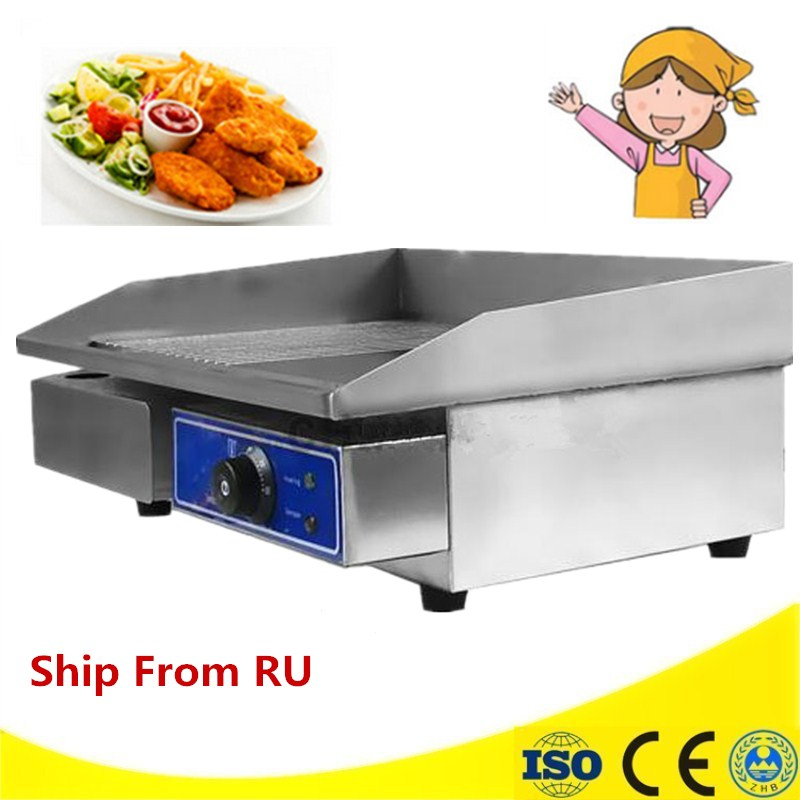 220V/3000W Commercial Electric Griddle Stainless Steel Flat Plate Oven BBQ Grill For Restaurant commercial flat griddle for sale