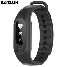 Bozlun hombres relojes de pulsera de banda de la muñeca inteligente de ritmo cardíaco de presión arterial digital monitor de alarma cronómetro relojes de las mujeres de la aptitud b15p
