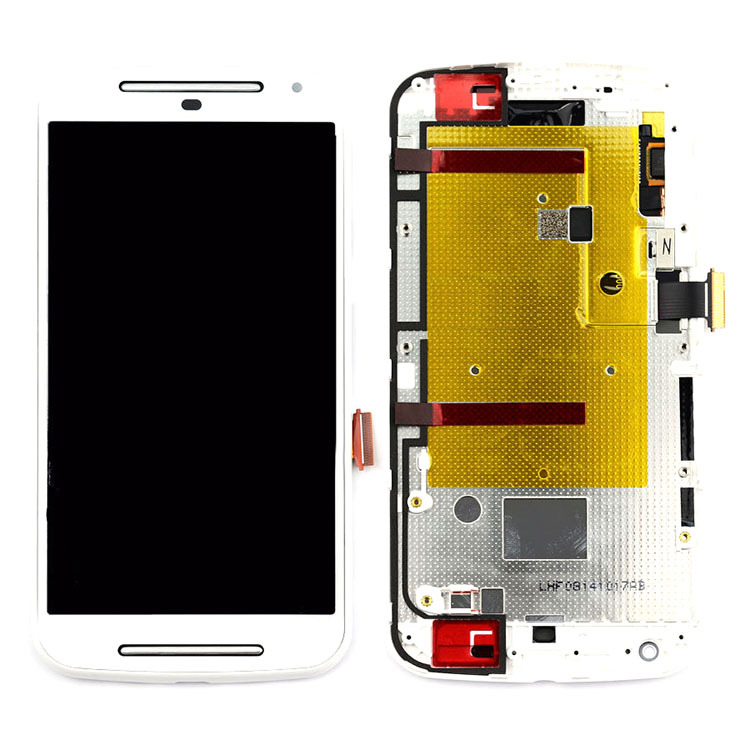 ФОТО White Assembly+Frame For Motorola Moto G 2nd G2 Gen XT1063 LCD Screen Display Digitizer Touch Screen High Quality