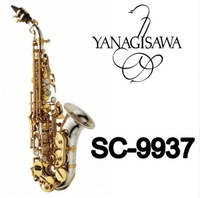 New YANAGISAWA Curved Soprano Saxophone SC 9937 Silvering Brass Sax Professional Mouthpiece Patches Pads Reeds High