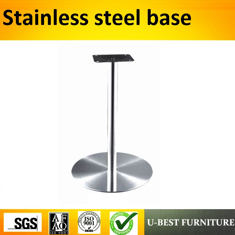 U-BEST Round Stainless Steel Bar Table Base,Stainless steel legs