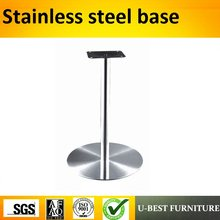 U-BEST Round Stainless Steel Bar Table Base,Stainless steel legs(China)