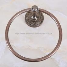 цена на Bathroom Towel ring bathroom hardware accessories towel bar ring rack Antique Copper towel ring holder Nba156