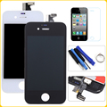 White Black For iPhone 4 4G/4S 4GS LCD Display Touch Screen Digitizer+Bezel Frame+Tempered Film+Tools Free Shipping+Tracking No.