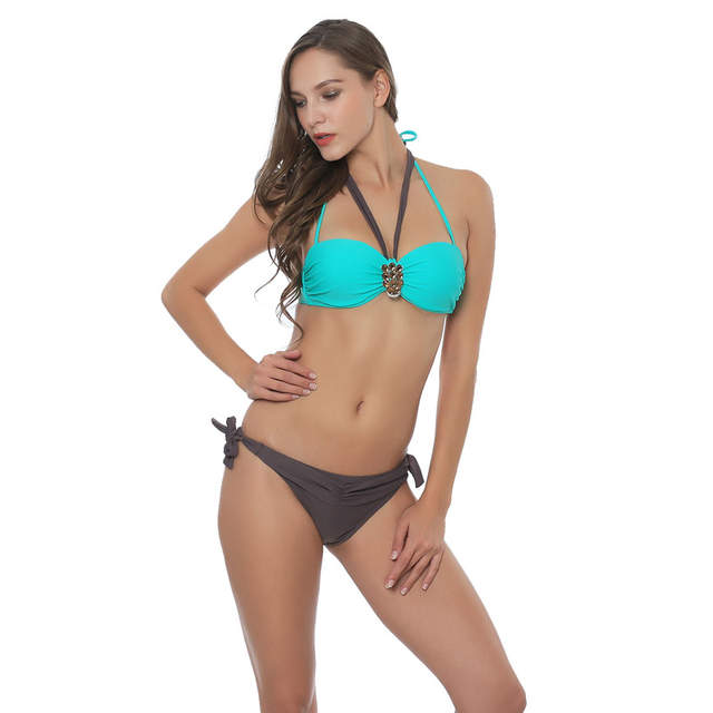 437ce8cc9b Online Shop Teres Sexy Striped Bikini Women Push Up Vintage Swimwear Female  Underwire Swimsuit Beach Bathing Suit Summer Hot Swim Wear 2017
