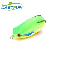 Free Shipping 5pcs/lot Soft Plastic Frog Lure Topwater Snakehead Lure Frog Lure Fishing Soft Bass Lure 26g 6.8cm