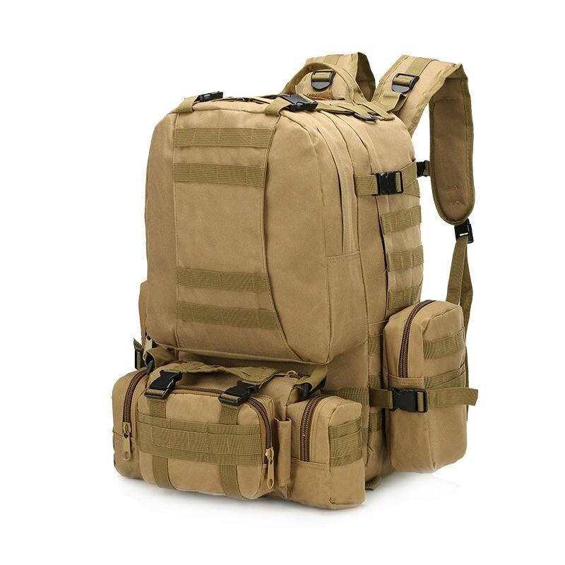 Военно тактические рюкзаки 65L Туризм Отдых камуфляж рюкзак альпинизм сумки унисекс Открытый Молл ленты рюкзак 1027c