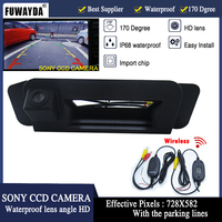 FUWAYDA For Mercedes Benz CLA Class C117 2015 Car Rear View Camera Reverse Camera wireless sony HD CCD RCA NTST Trunk handle
