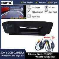 FUWAYDA For Mercedes Benz CLA Class C117 2015 Car Rear View Camera Reverse Camera wireless sony HD CCD RCA NTST Trunk handle