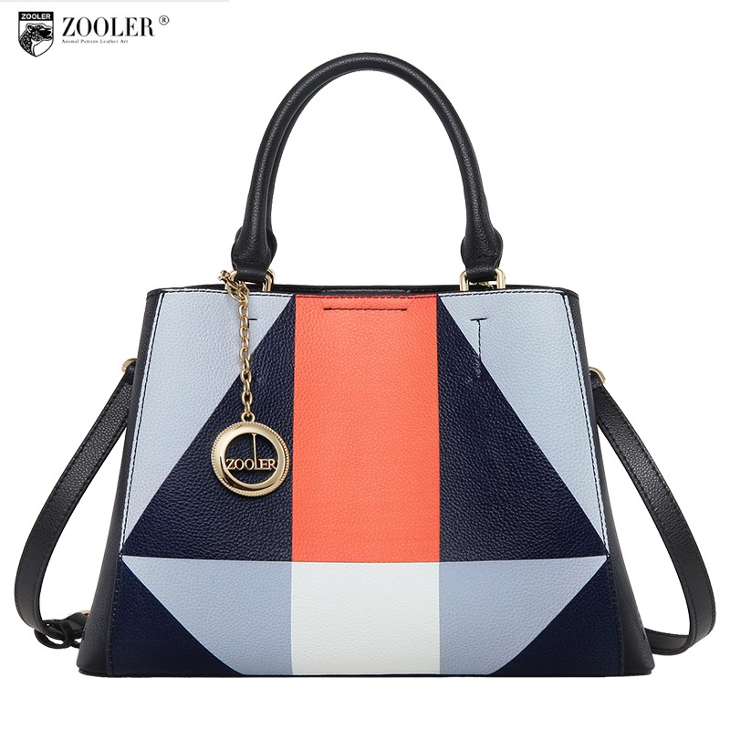 Hot luxury bag ZOOLER 2018 NEW genuine leather bag handbags famous brand patchwork handbag bolsa feminina luxury woman bags#y115 limited zooler new genuine leather bag elegant style 2018 woman leather bags handbag women famous brand bolsa feminina c128