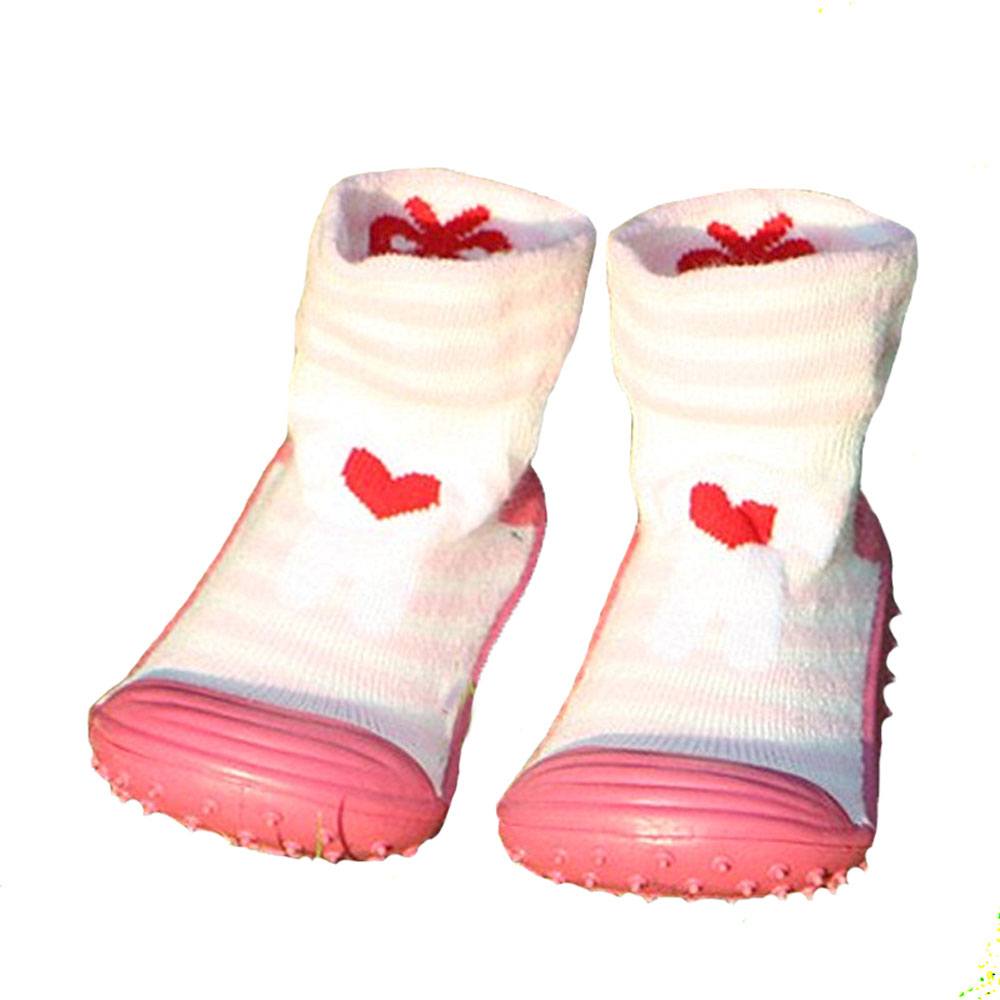 Baby Girls' Boys' Socks With Rubber Soles Anti Slip Toddler Indoor Floor Shoes Infant Socks Soft Bottom Ws917