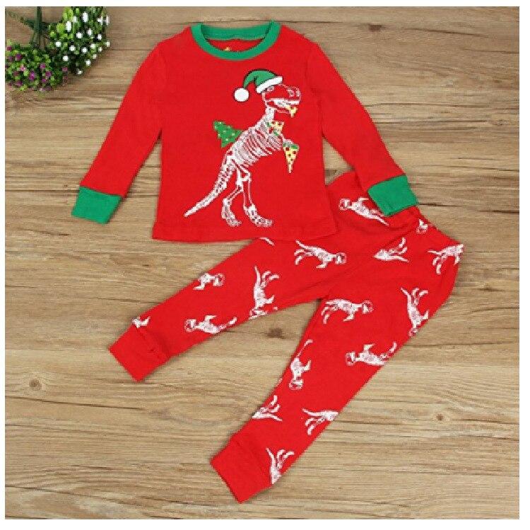 Детей европейских и американских Весна и осень Рождество модели для мальчиков и девочек детская с принтом динозавра с длинными рукавами до...