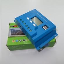 Nuevo tipo de 30A 12 V 24 V inteligencia Reguladores Regulador de la Carga de La Batería de células Solares Del Panel LCD 5 V tensión USB ajustable