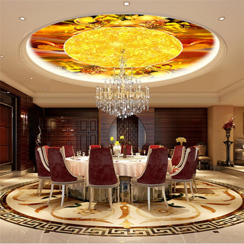 Papel pintado 3d personalizado wellyu, papel tapiz 3d para restaurante chino, Hotel, restaurante, sala de estar, Mural de techo, papel tapiz 3d